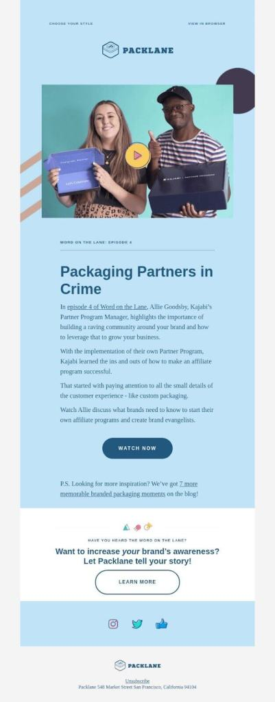 email graphic design examples