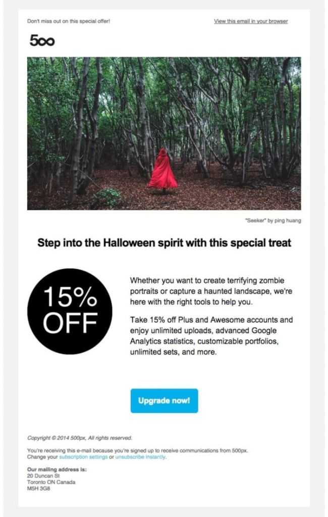 promo emails examples